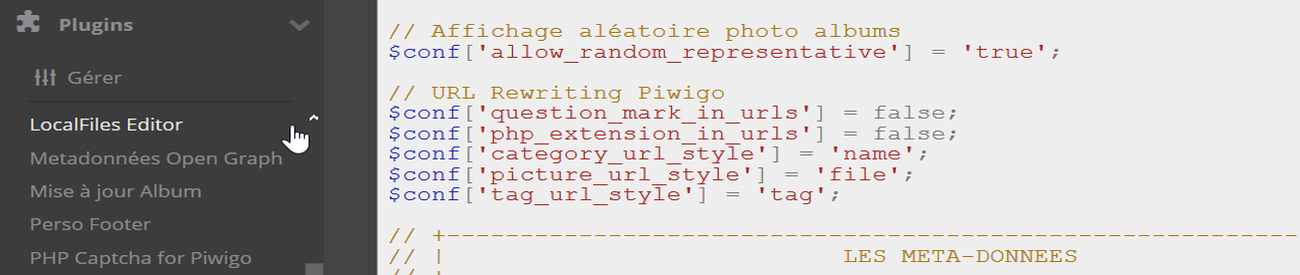 URL Rewriting Piwigo